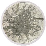Dublin Ireland Map Ca1797 Round Beach Towel