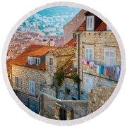 Dubrovnik Clothesline Round Beach Towel