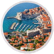 Dubrovnik From Above Round Beach Towel