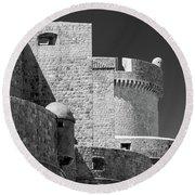 Dubrovnik Old Town Walls Round Beach Towel