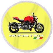 Ducati Monster Round Beach Towel