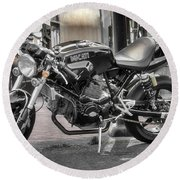 Round Beach Towel featuring the photograph Ducati Sport 1000 by Mitch Shindelbower