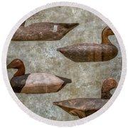 Duck Decoys On Brown Round Beach Towel