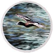 Duck Leader Round Beach Towel