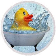 Duck Rubber Round Beach Towel