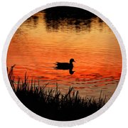Duck Silhouette Round Beach Towel