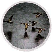 Duck Squadron Round Beach Towel