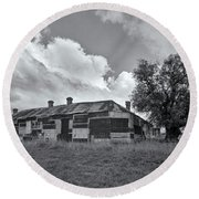 Round Beach Towel featuring the photograph Duckholes Hotel by Linda Lees