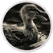 Duckling Round Beach Towel