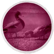 Ducks #1 Round Beach Towel