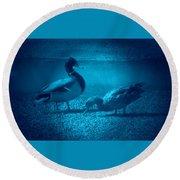 Ducks #2 Round Beach Towel