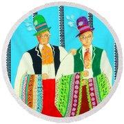 Duet -- #5 Hungarian Rhapsody Series Round Beach Towel