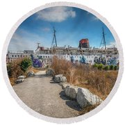 Round Beach Towel featuring the photograph Duke Of Lancaster Graffiti by Adrian Evans