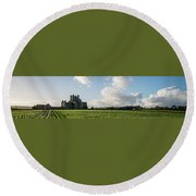Dunbrody Abbey Round Beach Towel