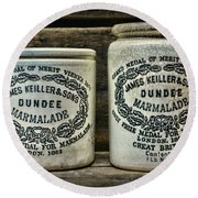 Dundee Marmalade Country Kitchen  Round Beach Towel