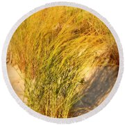 Dune Grass II  - Jersey Shore Round Beach Towel