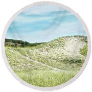 Dune Walk Round Beach Towel