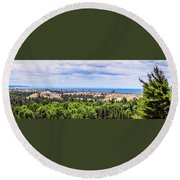 Dunes Along Lake Michigan Round Beach Towel
