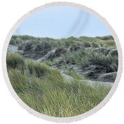 Dunes At Bodega Round Beach Towel