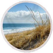 Dunes At Plum Island Round Beach Towel