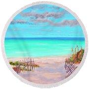 Dunes Beach 2 Round Beach Towel