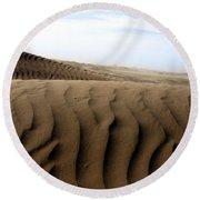 Dunes Of Alaska Round Beach Towel by Anthony Jones