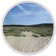 Dunes Of Schoorl Round Beach Towel
