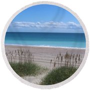 Round Beach Towel featuring the photograph Dunes On The Outerbanks by Sandi OReilly