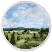 Dunescape Preserved Forever Round Beach Towel by Kathi Mirto