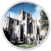 Round Beach Towel featuring the photograph Dunfermline by Anthony Baatz