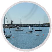 Dunmore East Harbour. Round Beach Towel
