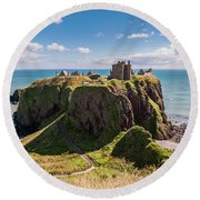 Dunnotar Castle Round Beach Towel