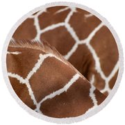 Duo Giraffe Pattern Round Beach Towel
