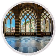 Duomo Di Amalfi Round Beach Towel
