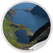 Djupfjord And Lake 229 From Munken Round Beach Towel
