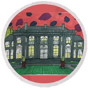 Dupont Family Mansion. Round Beach Towel by Jonathon Hansen