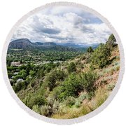 Round Beach Towel featuring the photograph Durango No.1 by Margaret Pitcher