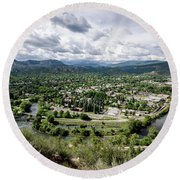 Round Beach Towel featuring the photograph Durango No.2 by Margaret Pitcher