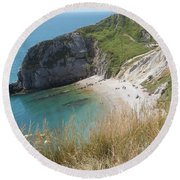 Durdle Door Photo 1 Round Beach Towel