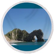 Durdle Door Photo 6 Round Beach Towel