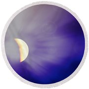 Aries Moon During The Total Lunar Eclipse 3 Round Beach Towel