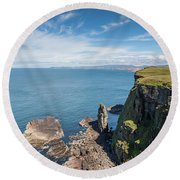 Round Beach Towel featuring the photograph Handa Island - Sutherland by Pat Speirs