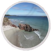 Round Beach Towel featuring the photograph Durness - Sutherland by Pat Speirs
