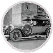 Dusenberg Car Circa 1923 Round Beach Towel