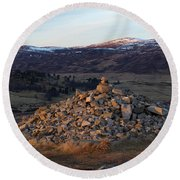 Dusk In Glen Gairn Round Beach Towel