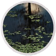 Dusk In The Swamp Round Beach Towel