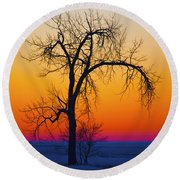 Dusk Surreal.. Round Beach Towel