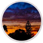 Round Beach Towel featuring the photograph Dusky by Mark Blauhoefer