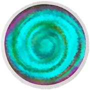 Dusted Round Beach Towel by Catherine Lott