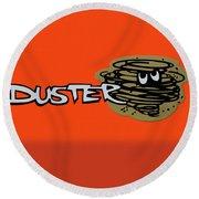 Duster Emblem Round Beach Towel